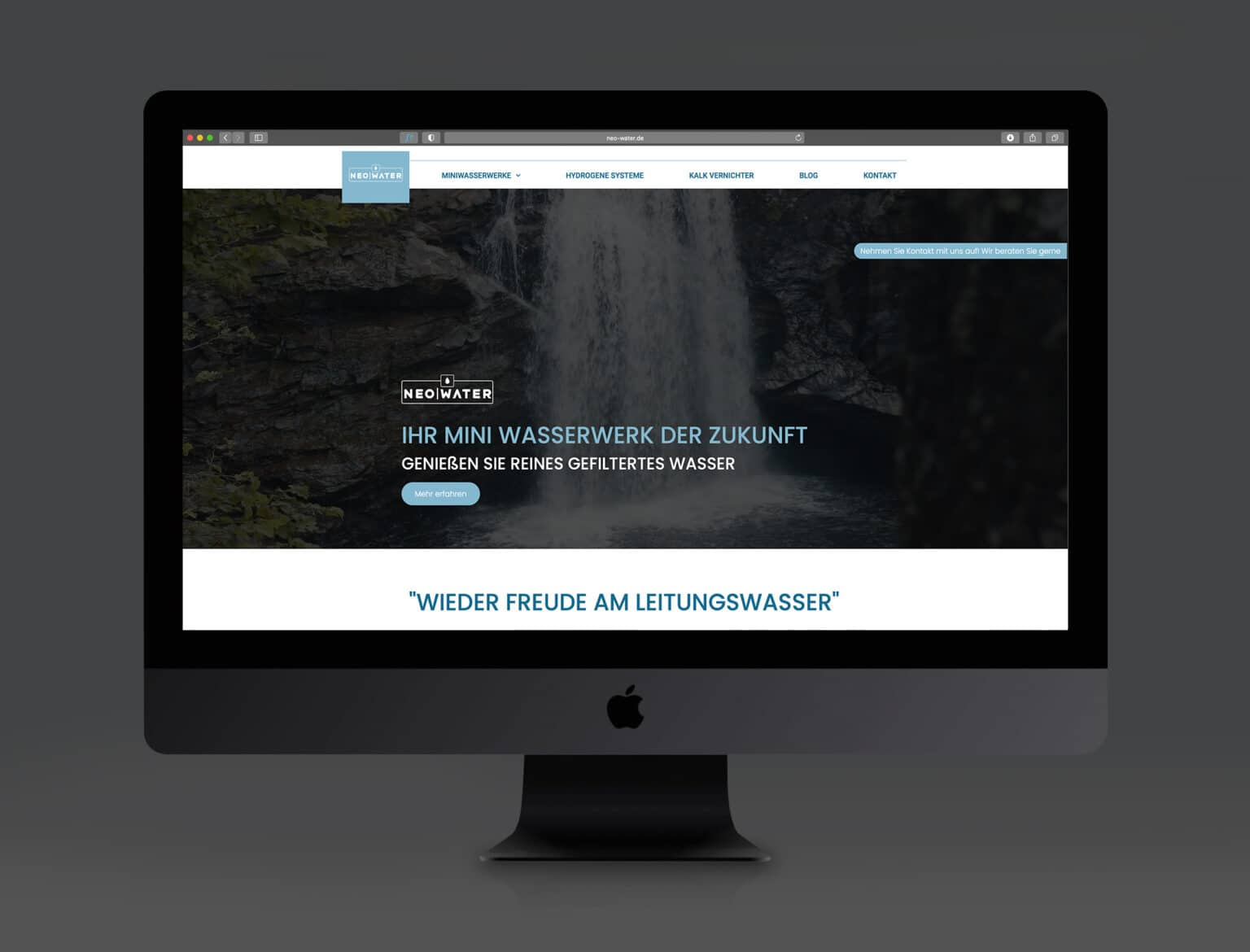 Neo Water Webseite by march department webdesign grafiker grafikdesign